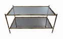 Dessau Home Antiqued Gold Two Tier Coffee Table