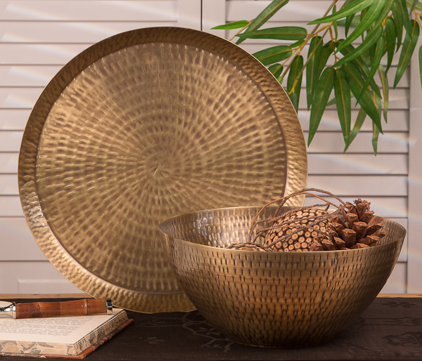 Antiqued hammered brass rice bowl home decor you