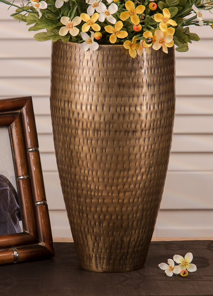 Dessau Home Antiqued Hammered Brass Rice Vase Home Decor 55 96 You Save 13 99