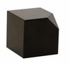 Dessau Home Black Crystal Cut Corner Cube Decor