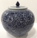 "Dessau Home Blue & White 11"" Tea Jar"
