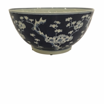 Dessau Home Blue & White Cherry Blossom Water Bowl