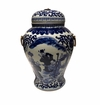 Dessau Home Blue & White Ginger Jar