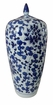 Dessau Home Blue & White Tall Lily Jar