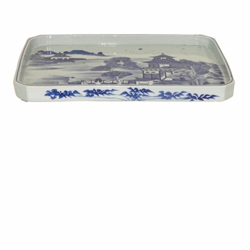 Dessau Home Blue & White Tray