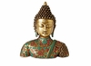 Dessau Home Brass Buddha With Stone Inlay