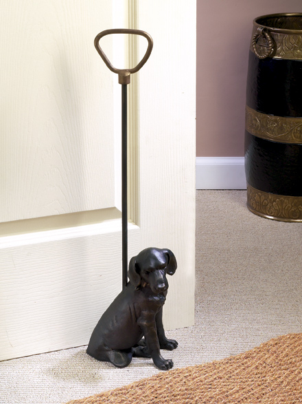 Bronze Lab Door Stop Bronze Iron Home Decor