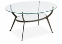 Dessau Home Bronze Oval Coffee Table