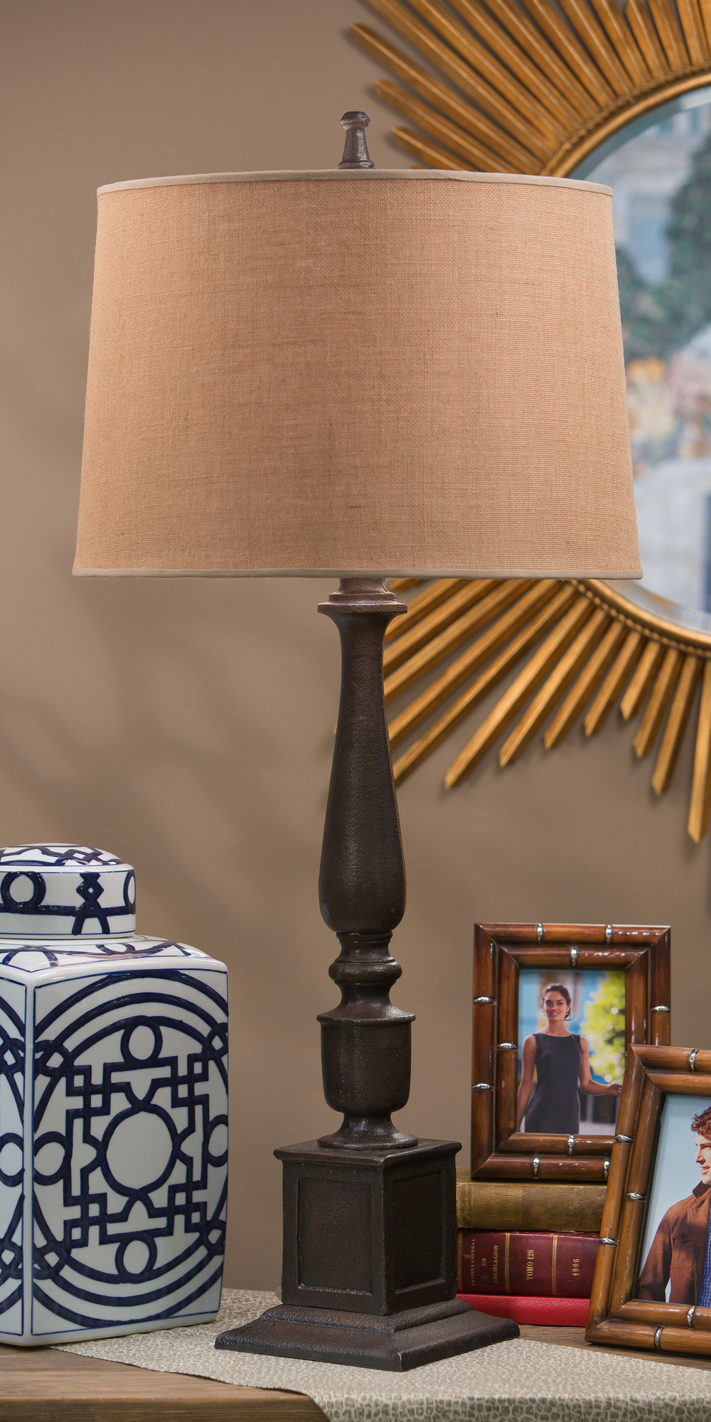 3 Home Decor Trends For Spring Brittany Stager: Dessau Home Bronze Rough Cast Lamp (3 Way- 200W) Home Decor