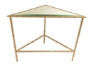 Dessau Home Champagne Silver 2 Tier Triangle Table