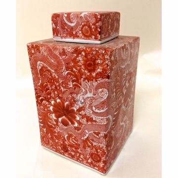Dessau Home Cinnabar Square Tea Jar
