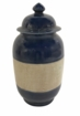 Dessau Home Cobalt Striped Jar