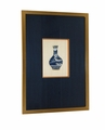Dessau Home Framed Blue & White Relief Vases