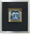 Dessau Home Framed Chinese Children Blue & White Plate