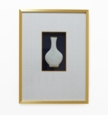 Dessau Home Framed White Crackle Tile Vase