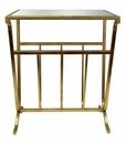 Dessau Home Gold Magazine Table & Mirror Top