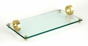 Dessau Home Gold Ring Bev. Glass Rectangular Tray