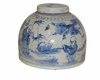 Dessau Home Half Moon Blue & White Tea Jar