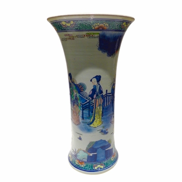 Dessau Home Hand Painted Ming Style Vase