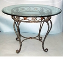 "Dessau Home Milan Dining Table 44"" D Glass Top"