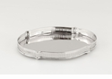 Dessau Home Nickel Chippendale Tray