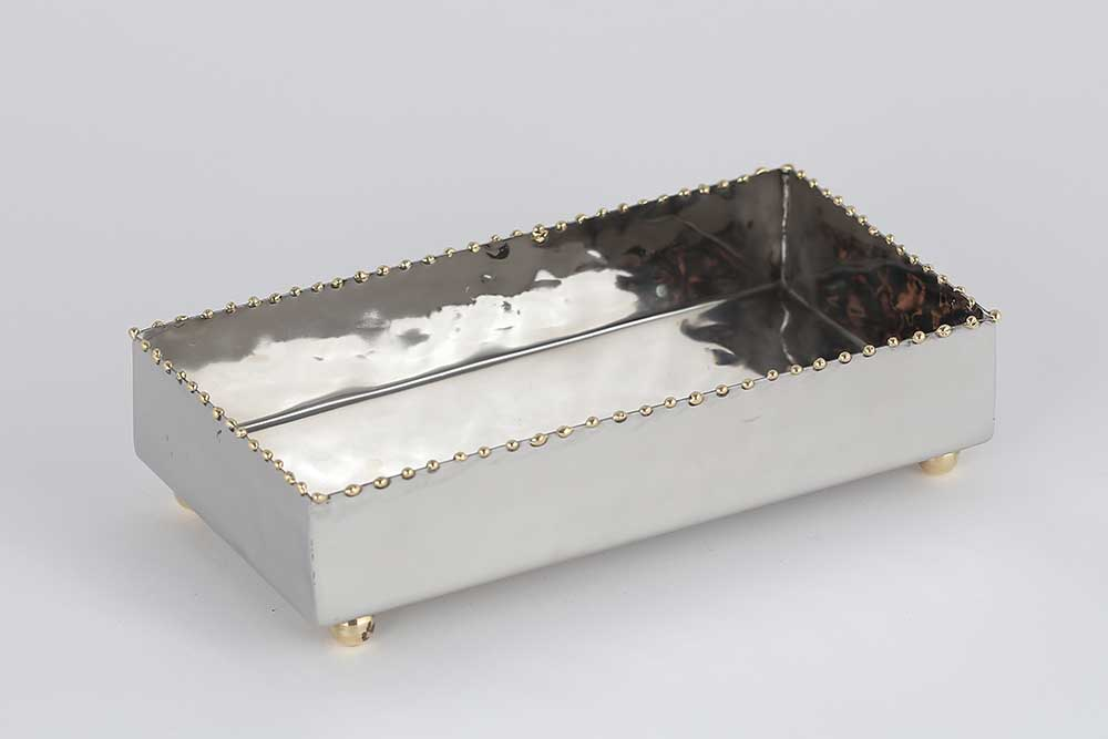 guest towel holder dessau home nickel gold bead guest towel tray