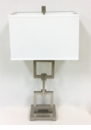 Dessau Home Nickel Square Link Lamp