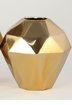 Dessau Home Small Gold Angled Vase