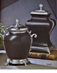 Dessau Home Square Black Leather Urn