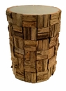 Dessau Home Teak Bark Round Accent Table