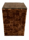 Dessau Home Teak Tile Square Accent Table