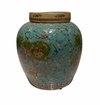Dessau Home Teal Lion Jar