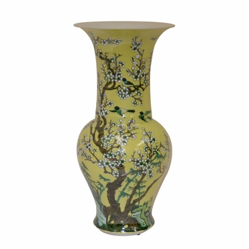 Dessau Home Yellow Blossom Vase