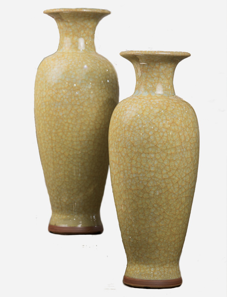 Yellow imperial vase home decor for Imperial home decor