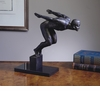Diver On Marble Base Bronze Iron Sculpture Home Decor
