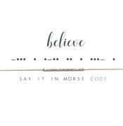 Dot & Dash Necklace - Believe