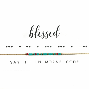 Dot & Dash Necklace - Blessed