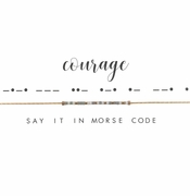Dot & Dash Necklace - Courage
