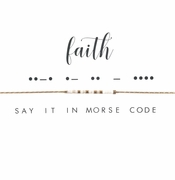 Dot & Dash Necklace - Faith