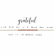 Dot & Dash Necklace - Grateful