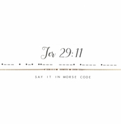 Dot & Dash Necklace - Jer 29:11