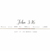 Dot & Dash Necklace - John 3:16