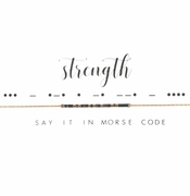 Dot & Dash Necklace - Strength