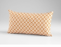 Dot Matrix Orange Decorative Pillow by Cyan Design
