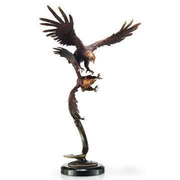 Double Flying Eagles Statue by SPI Home