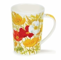 Dunoon Argyll Meadow Poppies Yellow Mug