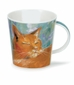 Dunoon Cairngorm Cats on Canvas Ginger Mug