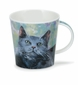 Dunoon Cairngorm Cats on Canvas Gray Mug