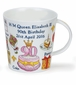 Dunoon Cairngorm Queen 90 Birthday 16.2oz Mug