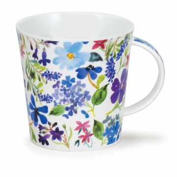 Dunoon Cairngorm Scattered Flowers Blue Mug